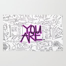 You Are - Fuchsia Rug