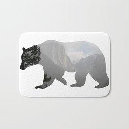 Grizzly Bear with Yosemite Photo Inlay Bath Mat