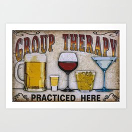 Group therapy practiced here Art Print