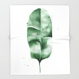 Banana Leaf no.5 Throw Blanket