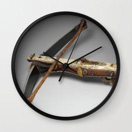 Antique Crossbow Photograph (1663) Wall Clock
