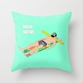 Local Native - Music Inspired Fan Cliche Digital Art Throw Pillow
