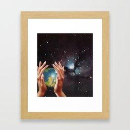 Got the World in My Hands Framed Art Print
