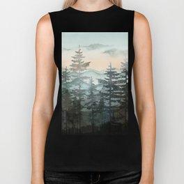 Pine Trees Biker Tank
