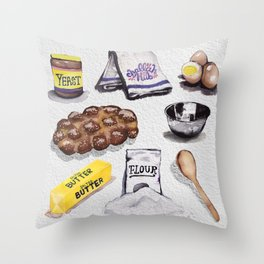 Challah Hub Spread Throw Pillow