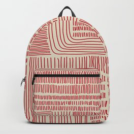 Digital Stitches whole beige + red Backpack