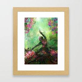 Statue of flowers Framed Art Print