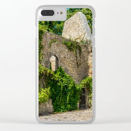 Old Castle Wall Ruin Clear iPhone Case