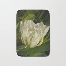 Double White Tulip by Teresa Thompson Bath Mat