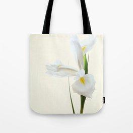 Tall White Iris Flower Tote Bag