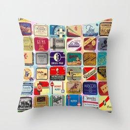 Antique Condoms Throw Pillow