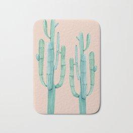 Besties Cactus Friends Turquoise + Coral Bath Mat