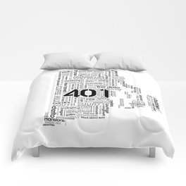Rhode Island Word Map Comforters