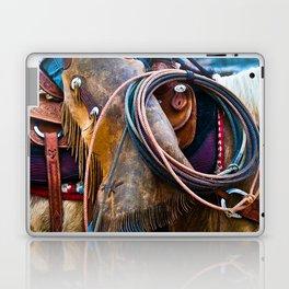 Tools of the Trade - Cowboy Saddle Closeup Laptop & iPad Skin