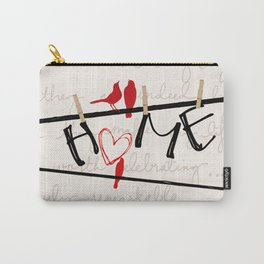 Home Letters Red Bird Clothesline A712 Carry-All Pouch