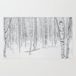 Swedish Birch Trees Rug