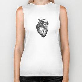 Vintage Heart Anatomy Biker Tank