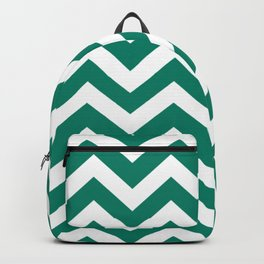 Generic viridian - green color - Zigzag Chevron Pattern Backpack