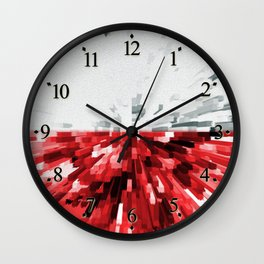 Extruded flag of Poland Wall Clock
