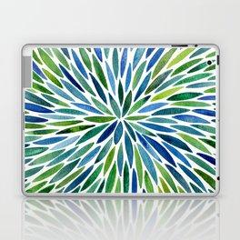 Watercolor Burst – Blue & Green Laptop & iPad Skin