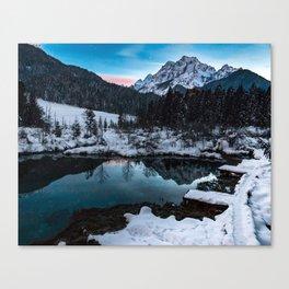 Zelenci springs at dusk Canvas Print
