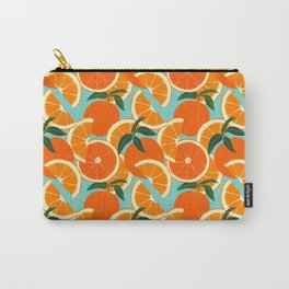 Orange Harvest - Blue Carry-All Pouch