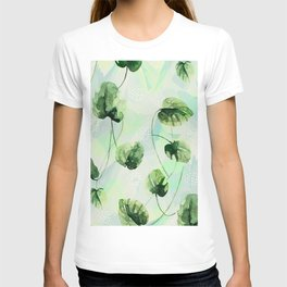Watercolor leaves T-shirt