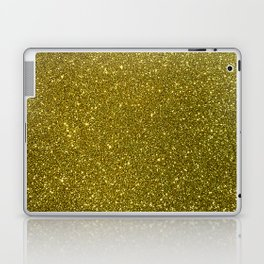 Classic Bright Sparkly Gold Glitter Laptop & iPad Skin
