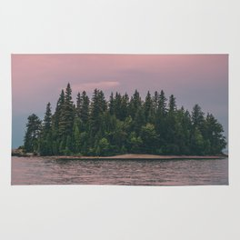 Lonely Island on Lac Saint-Jean Rug