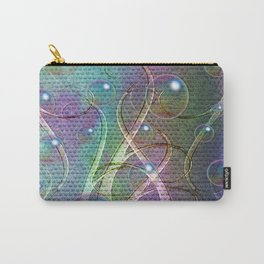 Abstract Seaweeds and Bubbles Carry-All Pouch