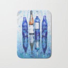 Wine Bottles Reflection Bath Mat