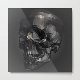 Skull in Low Poly Style Metal Print