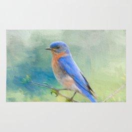 Bluebird In The Garden Rug