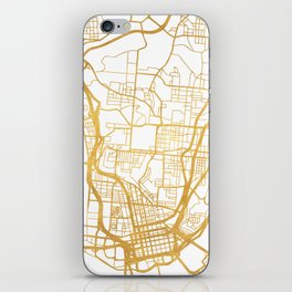 CINCINNATI OHIO CITY STREET MAP ART iPhone Skin
