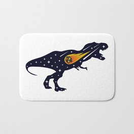 Dinosaur and meteorite strike #society6 #decor #buyart #artprint Bath Mat