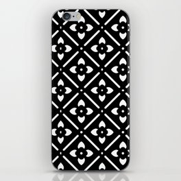 Nordic Edelweiss in Black and White iPhone Skin