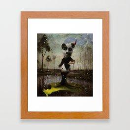 an end in flight Framed Art Print