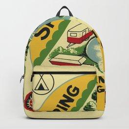 Vintage Retro Camping Spring Gulch Wanderlust Backpack