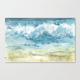 Ocean Waves Solana Beach Canvas Print