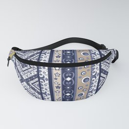 Abstract ornament. Rustic . Stripe. Fanny Pack