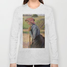 "Camille Pissarro ""Two Young Peasant Women"" Long Sleeve T-shirt"