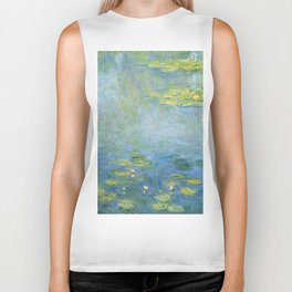 Water Lilies 1906 by Claude Monet Biker Tank