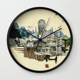 Collage City Mix 7 Wall Clock