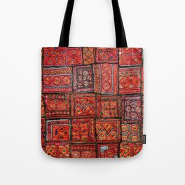 V5 Red Traditional Moroccan Design - A3 Tote Bag
