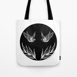 Sparrows and Ferns Tote Bag