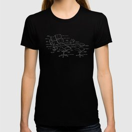 Eames Lounge Chair Diagram T-shirt
