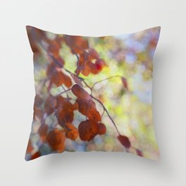 Dreaming on a Summer Day abstract nature photo Throw Pillow