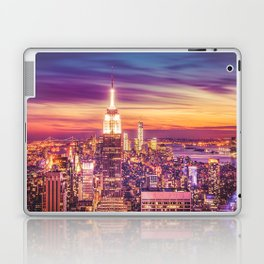 New York City Dusk Sunset Laptop & iPad Skin