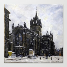St Giles in the Snow Canvas Print