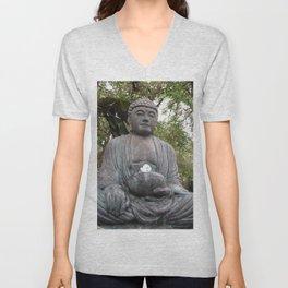 Buddha Statue Unisex V-Neck